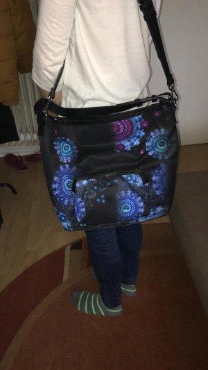 Handtasche Desigual schwarz blau , wie neu