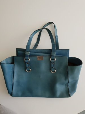Dsquared2 Carry Bag cadet blue-turquoise leather