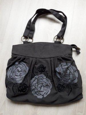 Handtasche dunkel grau NEU ca 30 x 40 cm mit Reisverschluß..letzter Preis
