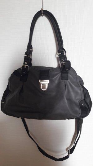Handtasche /dunkelgrau-schwarz
