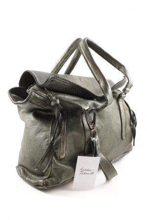 Handtasche dunkelgrün-silberfarben Casual-Look