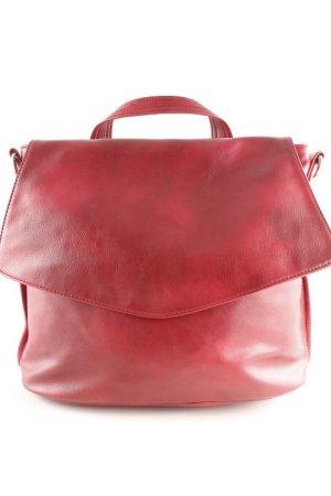 Handtasche dunkelrot-silberfarben Casual-Look
