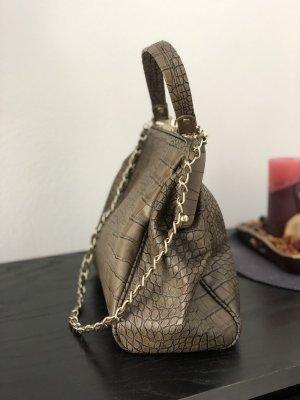 Mango Suit Handbag grey brown
