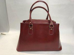 Handtasche ECHTES Leder rot Ledertasche