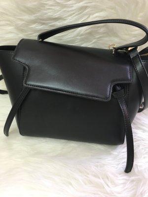 Handtasche Echtleder schwarz von Lush
