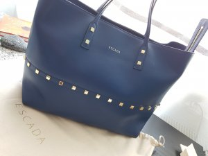 Escada Shopper blue-gold-colored leather