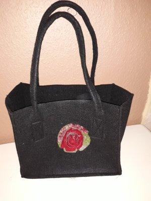 Handtasche Flora, Filz mit Applikation, Unikat
