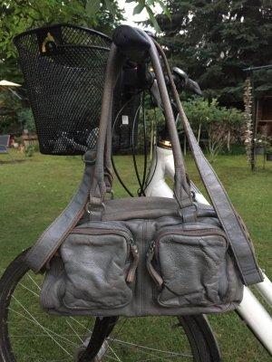 Handtasche Freds Bruder grau gefärbt