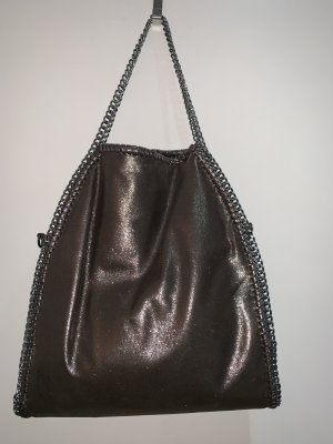 Handtasche grau/bronze