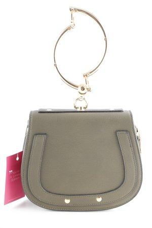 Handtasche graubraun schlichter Stil