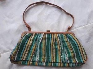 Handtasche Grün-Gelb gestreift
