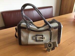 Guess Handbag natural white-grey synthetic