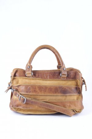 Handbag light brown-camel classic style