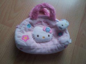 Handtasche Hello Kitty rosa pink Plüsch