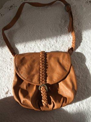 Handtasche in braun, Umhängetasche