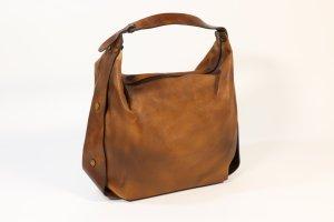 Handtasche in cognac braun