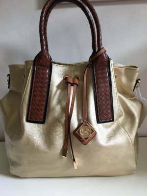 Handtasche in Gold-Metallic-Style