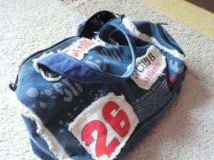 Carry Bag steel blue cotton