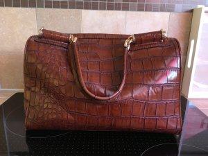 Handtasche in Kroko Leder Imitat