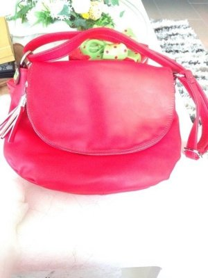 0039 Italy Handbag red leather