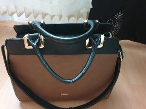 Handtasche in Schwarz und Braun