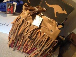 Fringed Bag sand brown