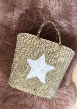 Basket Bag white-light brown