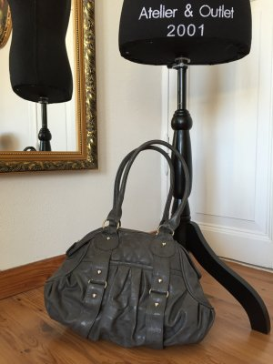 Handtasche Kunstleder grau