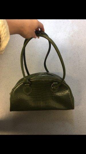 Handtasche Kunstleder Krokooptik