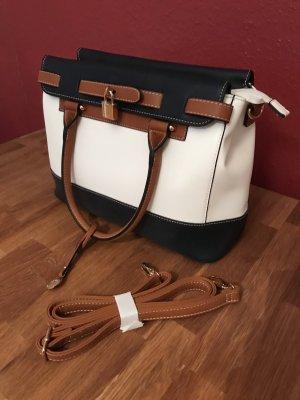 Handtasche L.Credi blau weiß neu