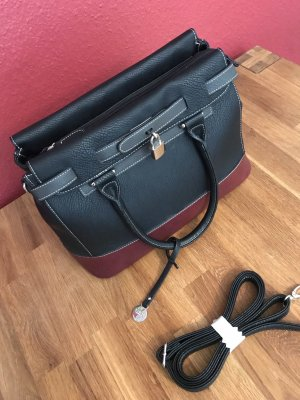 Handtasche L.credi schwarz rot