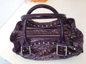 Handtasche Lackleder lila Made in Italy