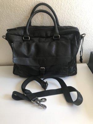 Spikes & Sparrow Laptop bag black leather