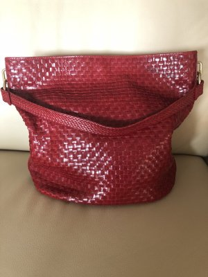 Pouch Bag red leather