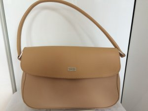 Handtasche Leder Textilmix beige