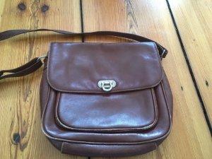 Handtasche, Leder, Vintage, Braun, zum Umhängen