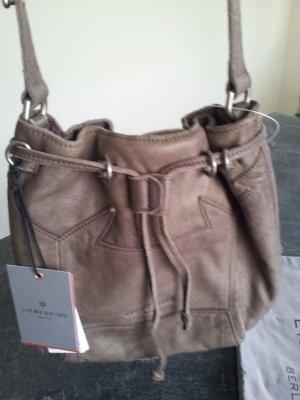 Liebeskind Berlin Handbag grey brown leather