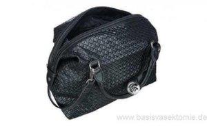 Handtasche, Marco Tozzi, Waffeloptik, schwarz, gebraucht