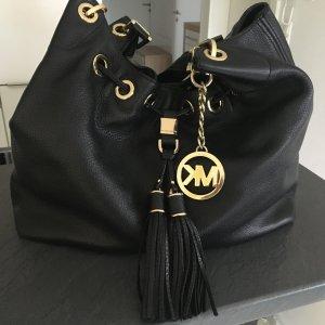 Handtasche Michael Kors Camden Drawstring schwarz