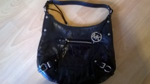 Handtasche < Michael Kors< Schwarz / Silber Leder