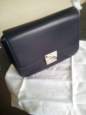 Michael Kors Handbag dark blue-silver-colored leather