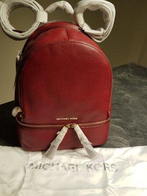 Michael Kors Bolso rojo oscuro-color oro Cuero