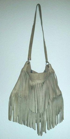 Fringed Bag sand brown leather