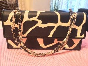 Handtasche mit Gliederkette im Giraffendesign