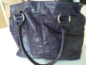 Handtasche mit Henkel, dunkellila-beere/Pflaume, H&M, 3 große Fächer - 1 Tasche