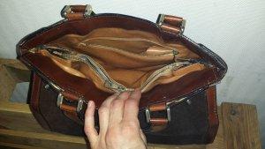 Handtasche mit Henkelgriffen komplett aus Leder