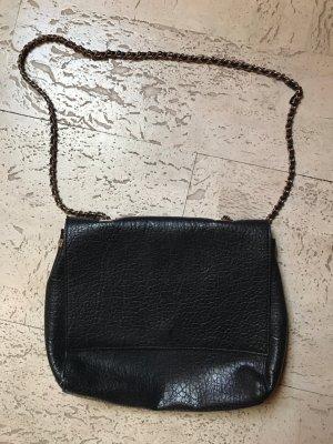 Zara Sac porté épaule noir-doré faux cuir
