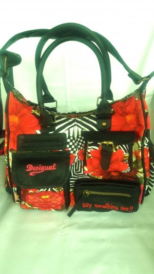 Desigual Frame Bag multicolored polyester
