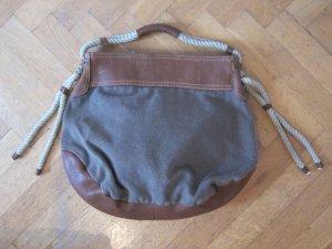 Handtasche mit Leder-Canvas-Mix von GAP