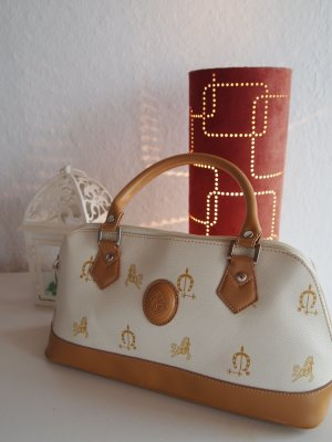 Carry Bag white-beige imitation leather